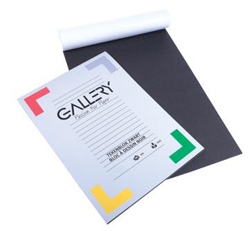 Gallery papier à dessin, noir, ft 24,5 x 34,5 cm, 120 g m², 20 feuilles