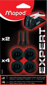 Maped perforateur Expert HD 150, blister de 4 disques et 2 poinçons