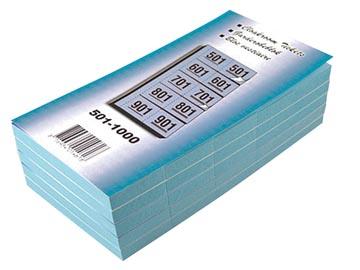 Carnets pour vestiaire numéros de 501 à 1.000, bleu