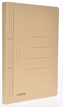 Class'ex chemise à glissière, ft 25 x 32 cm (pour ft A4), chamois