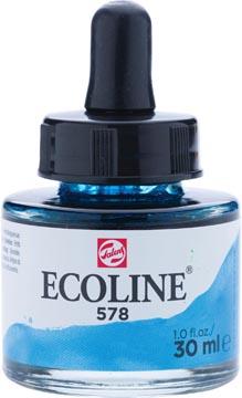 Talens Ecoline peinture à l'eau flacon de 30 ml, bleu ciel (cyan)