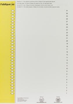 Elba onglets type 9, feuille de 31 étiquettes, jaune
