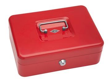 Wedo coffret à monnaie, ft 25 x 18 x 9 cm, rouge