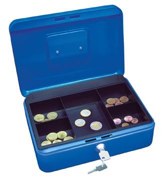 Wedo coffret à monnaie, ft 25 x 18 x 9 cm, bleu