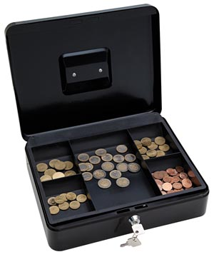 Wedo coffret à monnaie, ft 30 x 24 x 9 cm, noir