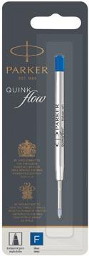 Parker Quinkflow recharge pour stylo bille, pointe fine, bleu, sous blister