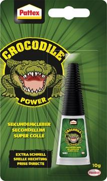 Pattex Crocodile Power colle instantanée, tube de 10 g, sous blister