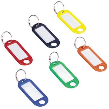 Wedo porte-clés avec anneau, couleurs assorties, paquet de 100 pièces