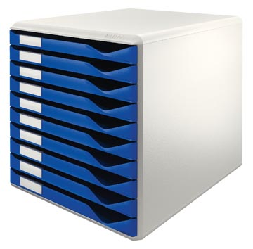 Leitz bloc à tiroirs gris clair/bleu