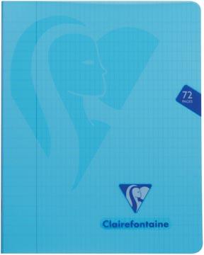 Clairefontaine cahier mimesys pour ft A5, 72 pages, couverture en PP, quadrillé 4 x 8, couleurs assorties