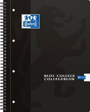 Oxford School bloc collège, ft A4, 180 pages, 4 trous, ligné, noir