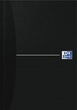 Oxford OFFICE Essentials cahier rembordé, 192 pages, ligné, ft A5, smart black