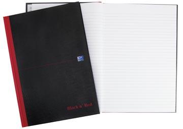 Oxford BLACK N' RED cahier rembordé, 192 pages, ft A4, ligné