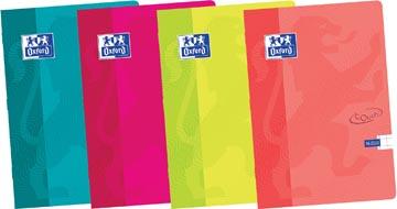 Oxford Touch cahier ft A4, 36 feuilles, quadrillé 10 mm, couleurs assorties