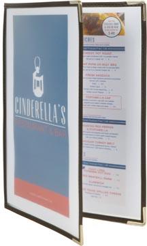 Securit protège-menu Crystal, ft A4, transparent, 2 pochettes