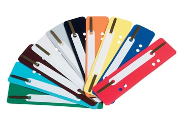 Fixe-dossiers, couleurs assorties, boîte de 250 pièces