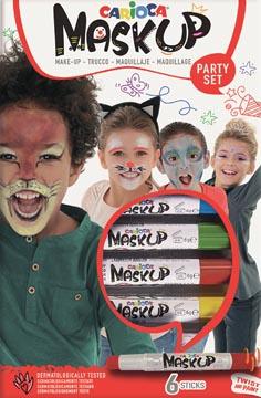 Carioca bâtons de maquillage Mask Up Party Set, boîte avec 6 bâtons