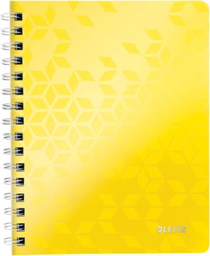 Leitz WOW cahier, ft A5, ligné, jaune