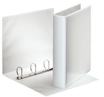 Esselte classeur à anneaux personnalisable, dos de 6,2 cm, 4 anneaux en D de 40 mm, blanc