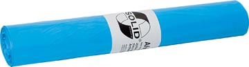 Sac poubelle 20 microns, ft 70 x 110 cm, bleu, rouleau de 25 pièces