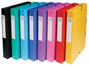 Exacompta boîte de classement Exabox couleurs assorties: jaune, rouge, rose, pourpre, bleu, turquoise,...