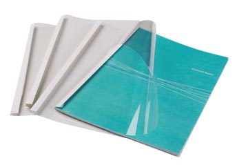 Fellowes couvertures thermique ft A4, 1,5 mm, paquet de 100 pièces, brillant