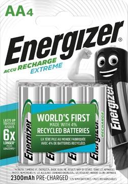 Energizer piles rechargeables Extreme AA, blister de 4 pièces