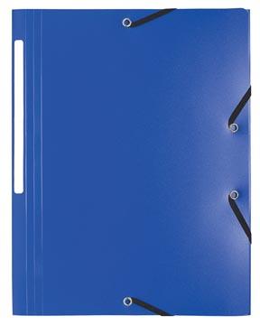 Exacompta chemise à rabats et élastiques A4, PP, bleu