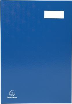 Exacompta signataire pour ft 24 x 35 cm, en carton couverte avec pvc, 20 compartiments, bleu