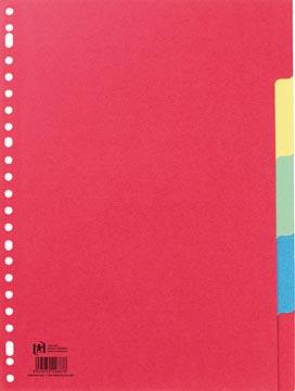 Oxford intercalaires, format A4, en carton, non imprimé, 23 trous, couleurs assorties, 5 onglets