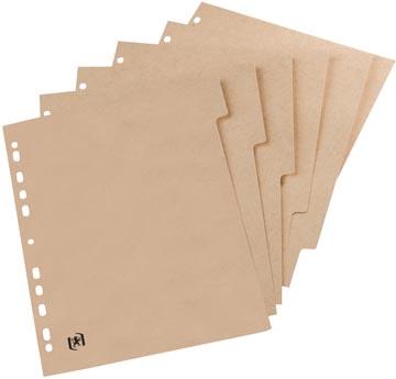 OXFORD Touareg intercalaires, format A4, en carton, onbedrukt, 11 trous, 6 onglets