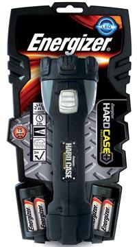 Energizer torche Hard Case, 4 piles AA inclus, sous blister