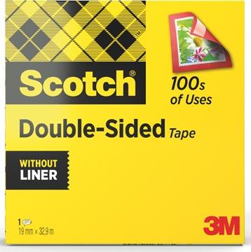 Scotch ruban adhésif double-face ft 19 mm x 33 m
