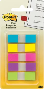 Post-it Index Small, couleurs assorties, 3 + 2 onglets gratuits