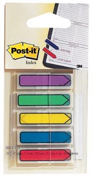 Post-it Index flèches, blister de 5 couleurs, 24 feuilles par couleur