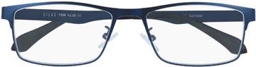 SILAC Blue Metal lunettes de lecture, métal san nickel bleu mat, +1,00