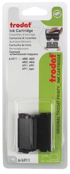 Trodat tampon encreur de rechange noir, pour cachet 4911/4820/4822/4846, blister de 2 pièces