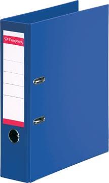 Pergamy classeur, pour ft A4, entièrement en PP, dos de 8 cm, bleu foncé