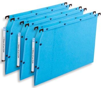 L'Oblique dossiers suspendus pour armoires AZV fond en V, bleu
