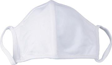 Masque lavable, blanc uni, taille: universel, paquet de 5 pièces