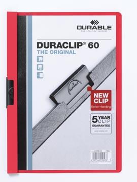 Durable Chemise à pince Duraclip Original 60 rouge