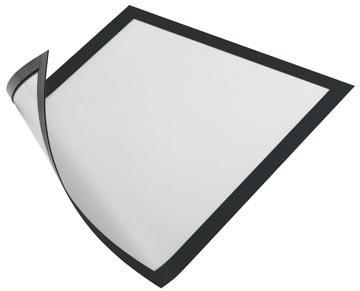 Durable Cadre magnétique, noir, ft A4, paquet de 5 pièces