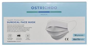 Masque chirurgical, type IIR, 3 couches, avec certificat CE, boîte de 10 pièces