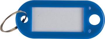 Q-Connect porte-clés, paquet de 10 pièces, bleu foncé