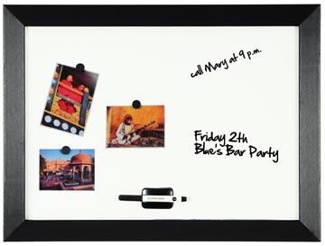 Bi-Office Tableau blanc magnétique Kamashi avec cadre noir