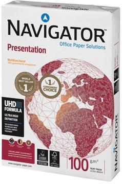 Navigator Presentation papier de présentation, ft A4, 100 g, paquet de 500 feuilles
