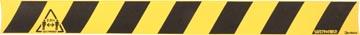Tarifold autocollant, Tenez 2 mètres de distance (aussi pour surfaces rugeuses), ft 80 x 8 cm, jaune/noir