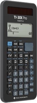 Texas calculatrice scientifique TI-30X Pro MathPrint français et allemand, sous blister