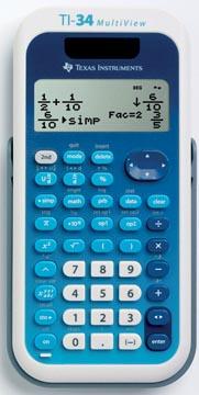 Texas calculatrice scientifique TI34 Multiview, embellage en allemand, français, anglais et portuguais