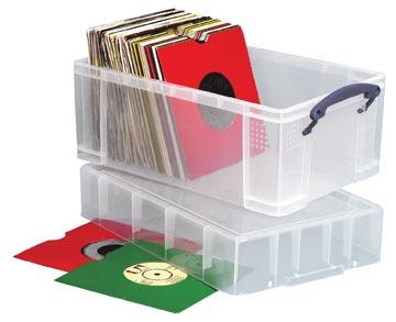 Really Useful Box boîte de rangement 9 l, couvercle XL, transparent